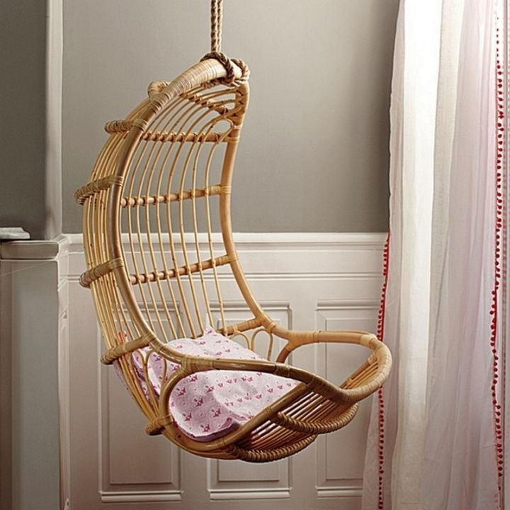 Best Eggshell Shaped Bedroom Swing Chair With Pictures