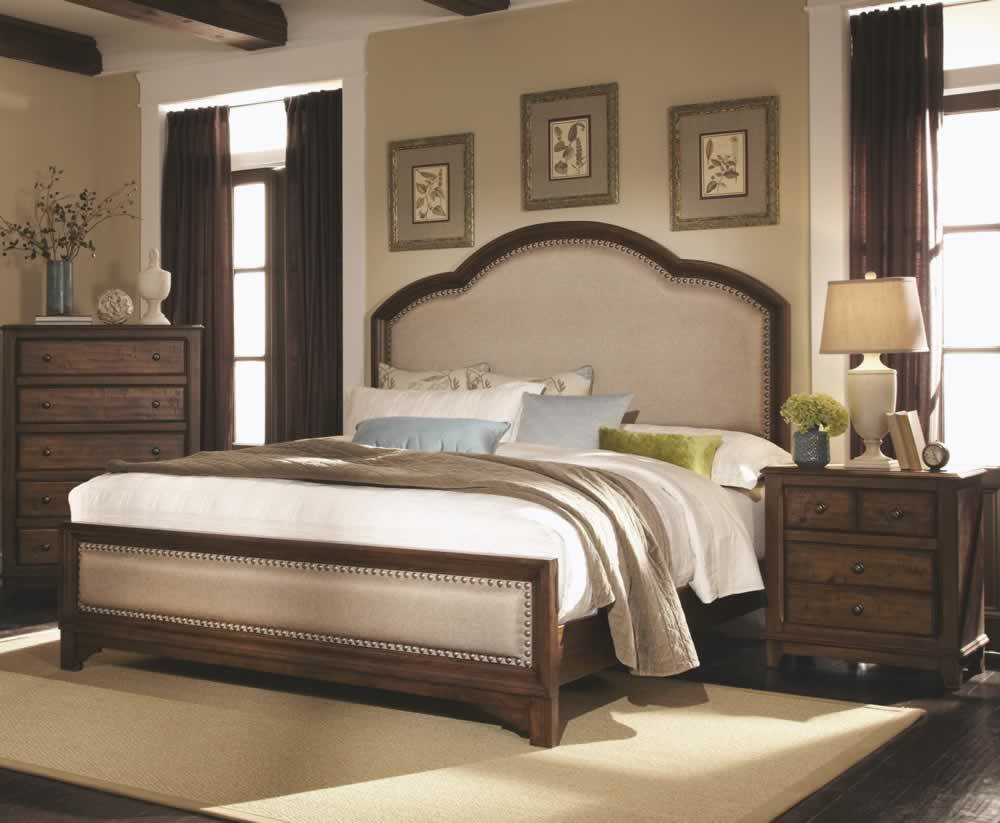 Best Bookcase Headboard King Bedroom Set Grey Upholstered With Pictures