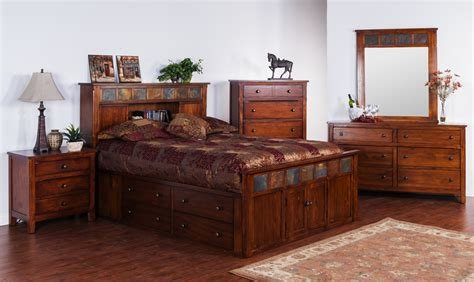 Best Sd 2333Dc Santa Fe Rustic Petite Platform Bedroom Suite With Pictures