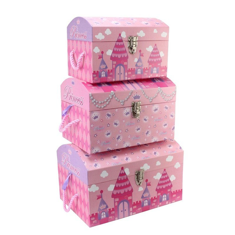 Best Little Girls Bedroom Accessory Princess Storage Trunks Set With Pictures