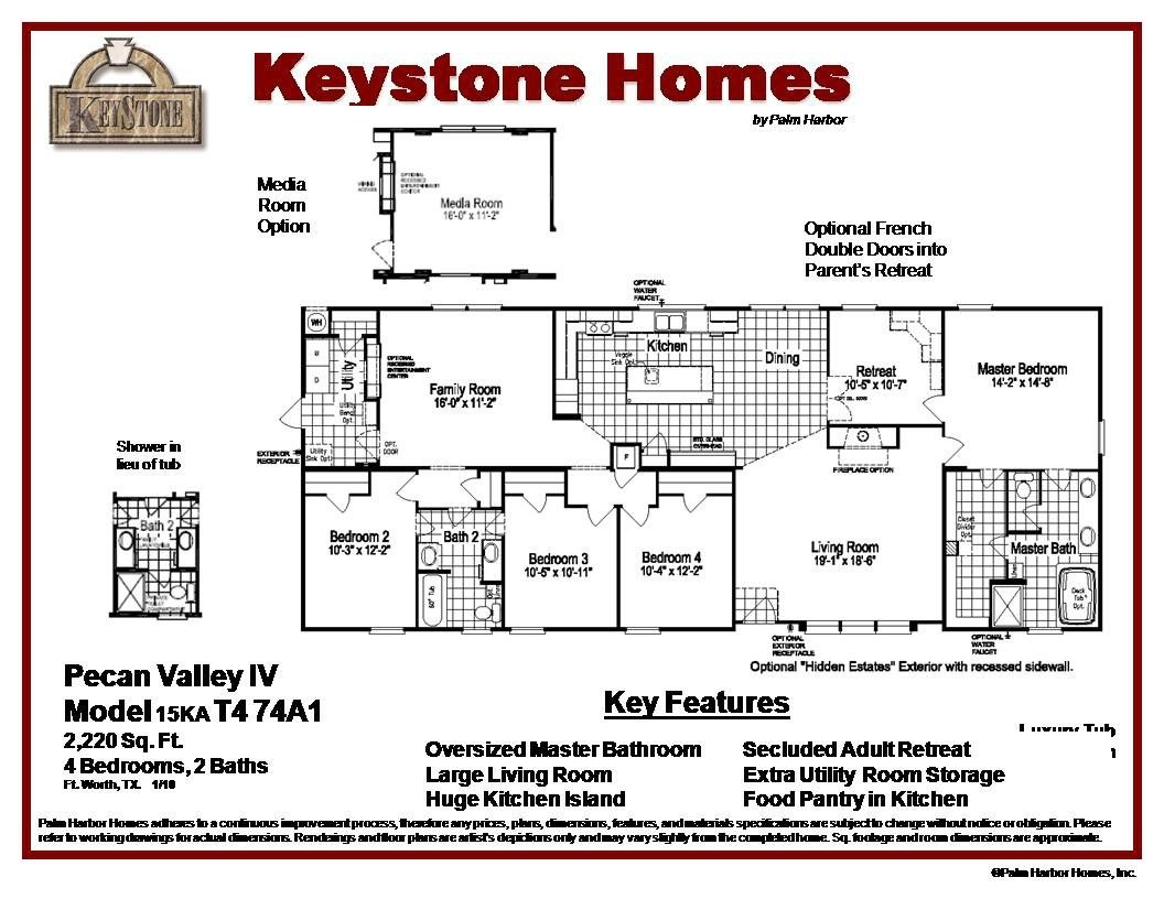 Best View The Pecan Valley Iv Floor Plan For A 2220 Sq Ft Palm With Pictures