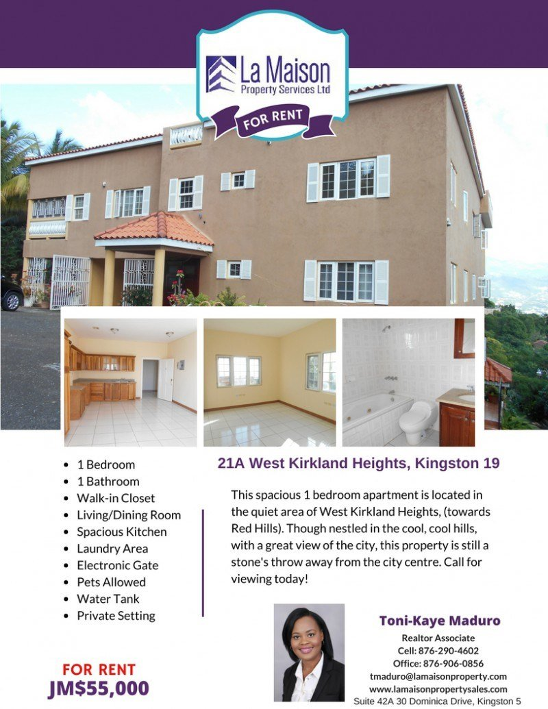Best Apartment For Lease Rental In Red Hills Kingston St With Pictures