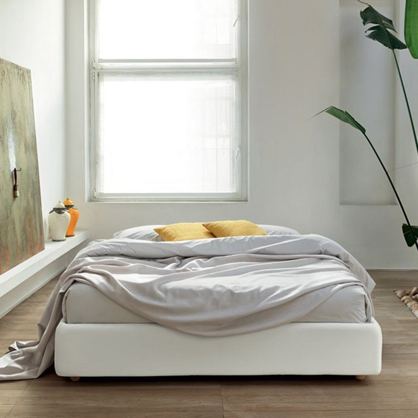 Best Fabric Bed Base Without Headboard With Pictures