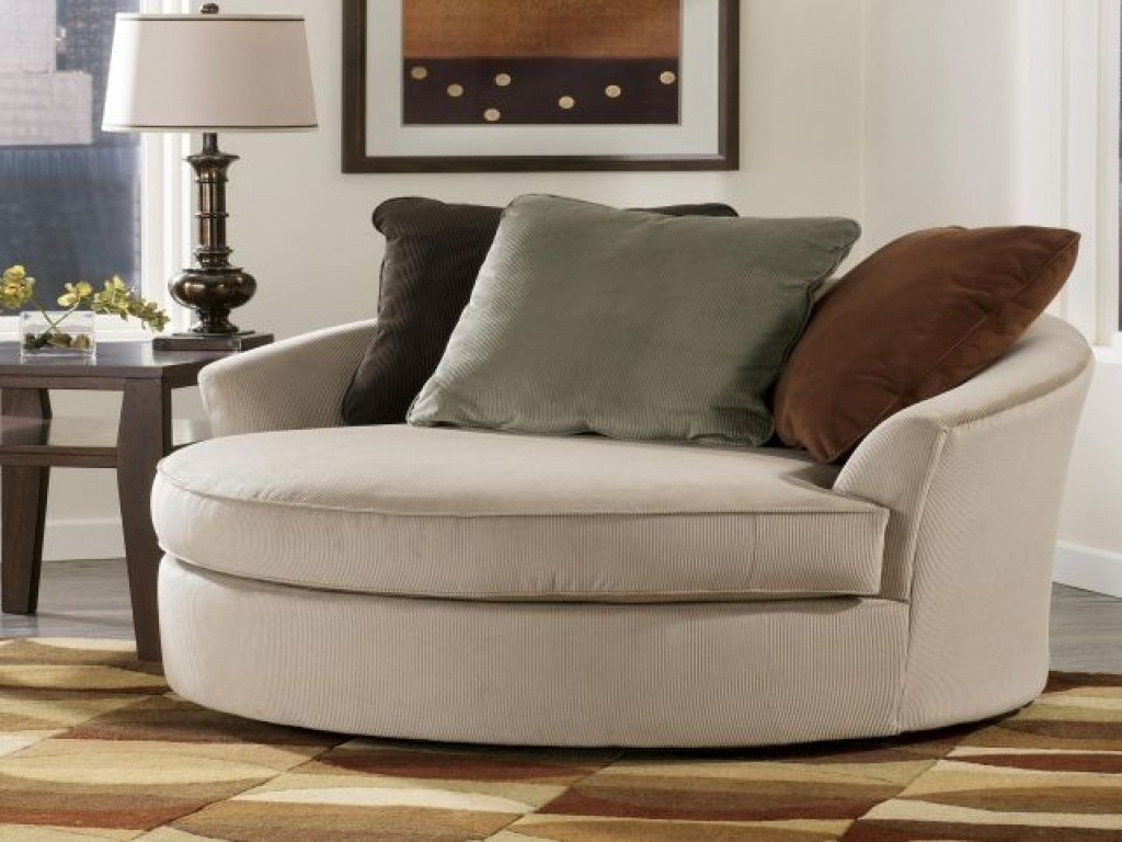 Best Round Oversized Swivel Chair Amazing Living Rooms Living With Pictures