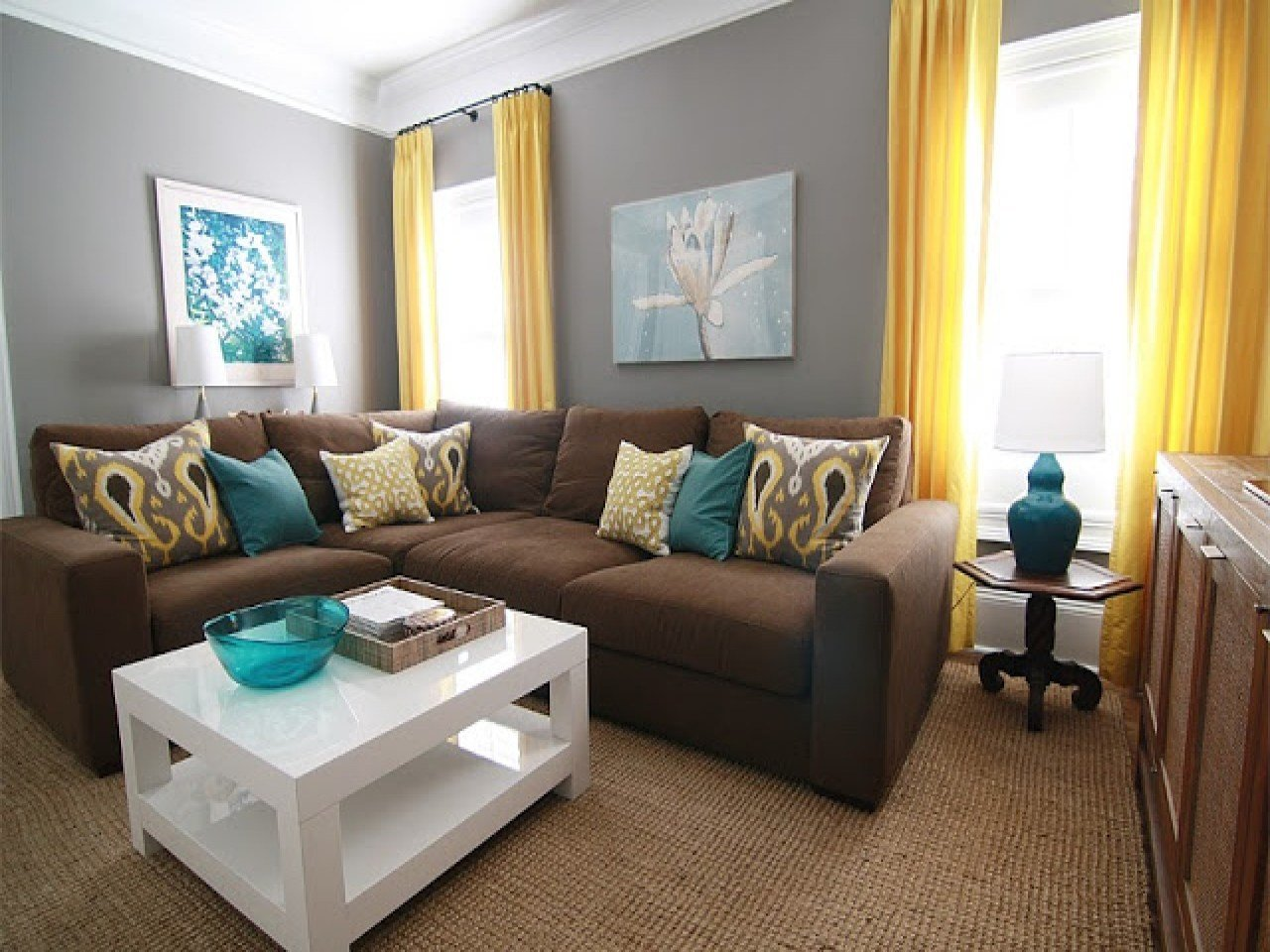 Best Teal And Brown Living Room Decor With Pictures