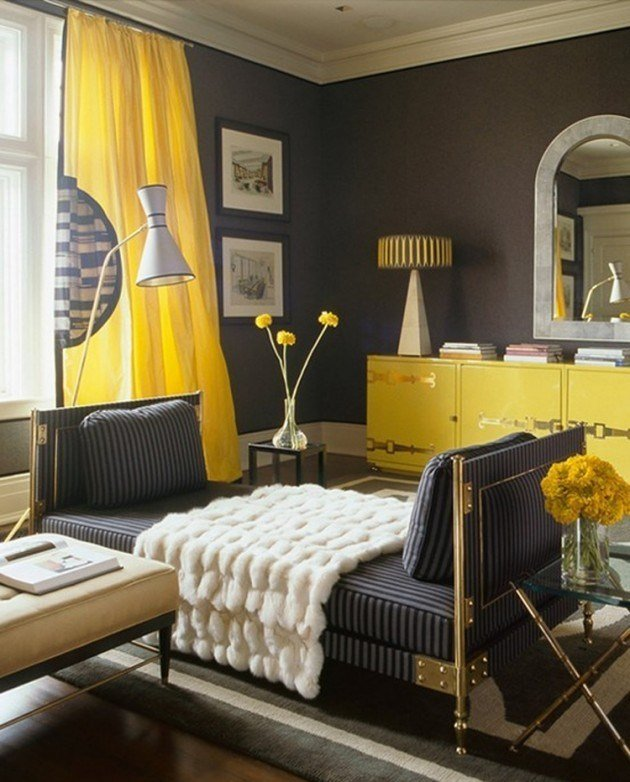 Best 20 Chic Interior Designs With Yellow Curtains With Pictures