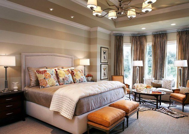 Best 18 Fancy Bedrooms With Striped Accent Walls With Pictures