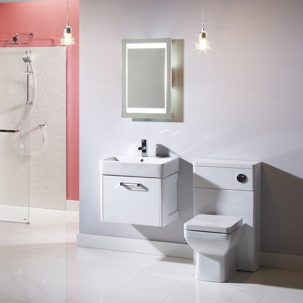 Best Tavistock Q60 White Wall Mounted Vanity Unit 575Mm With Pictures