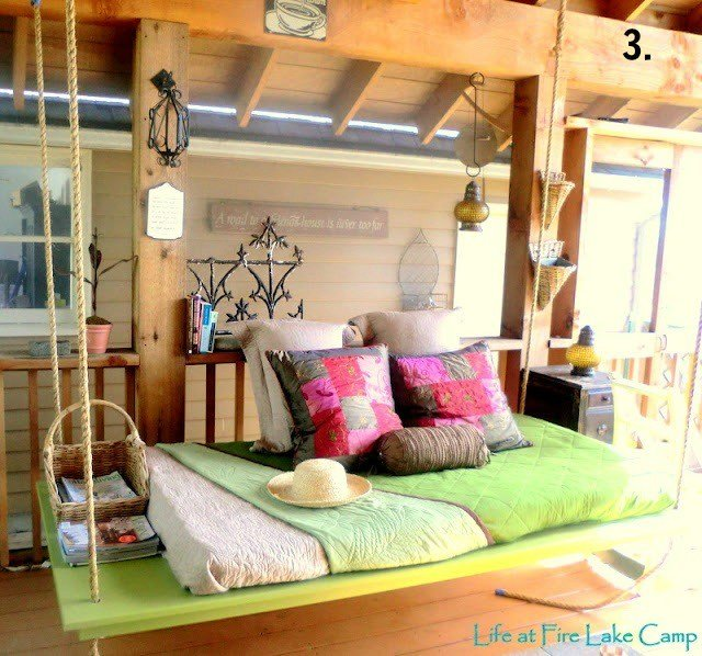 Best Remodelaholic Diy Hanging Loft Bed In A Girl S Bedroom With Pictures