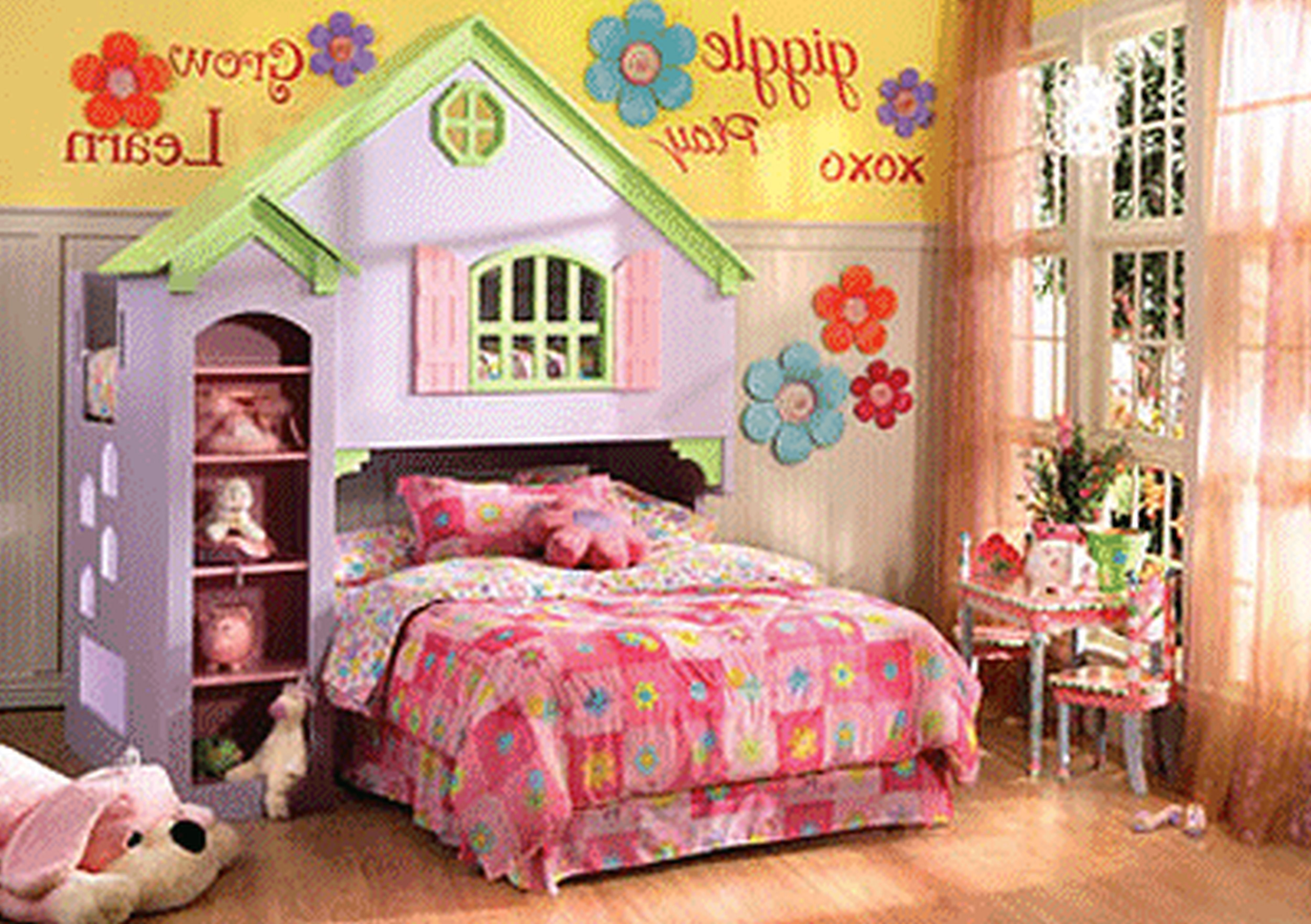 Best 22 Best Colourful Flower Garden Themed Girl039S Bedroom With Pictures