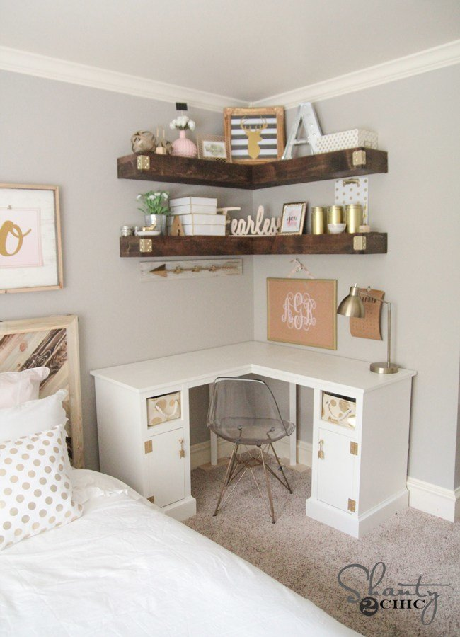 Best Diy Floating Corner Shelves Shanty 2 Chic With Pictures