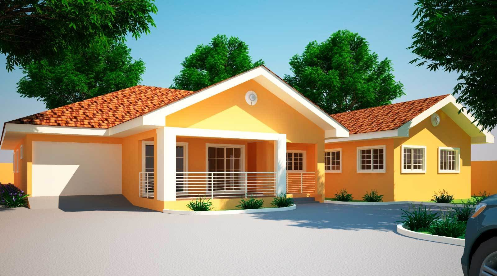 Best House Plans Ghana Jonat 4 Bedroom House Plan In Ghana With Pictures