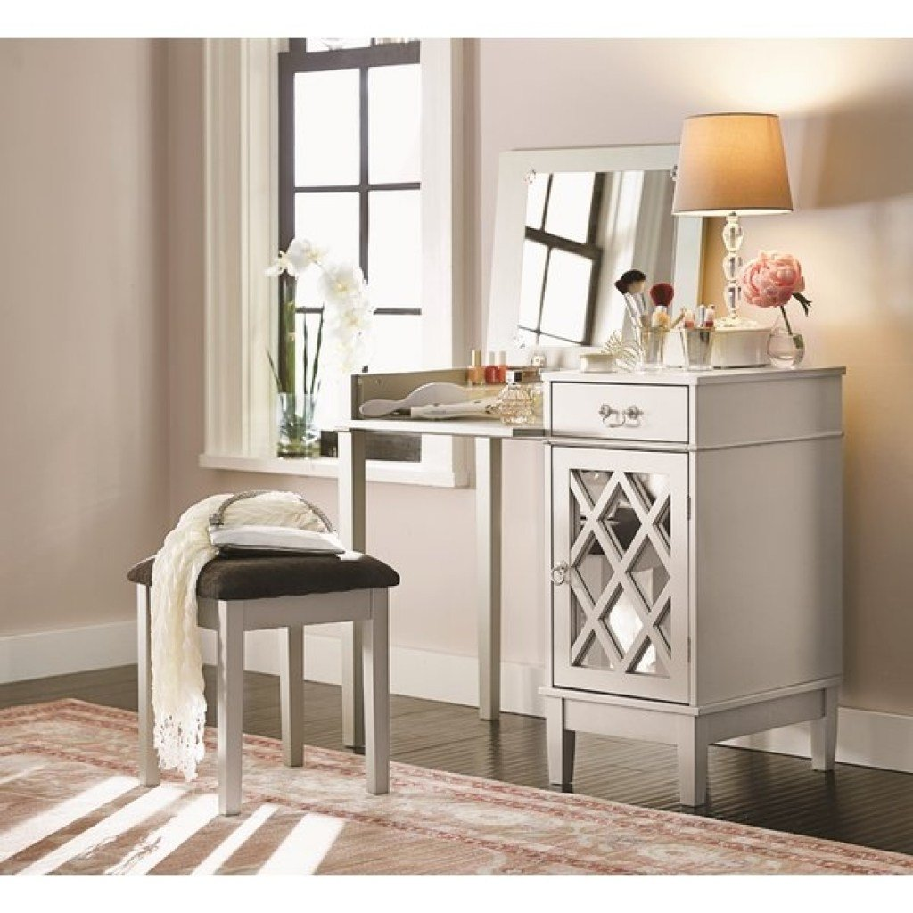 Best Flip Top Mirror Bedroom Makeup Vanities Youll Love Wayfair With Pictures