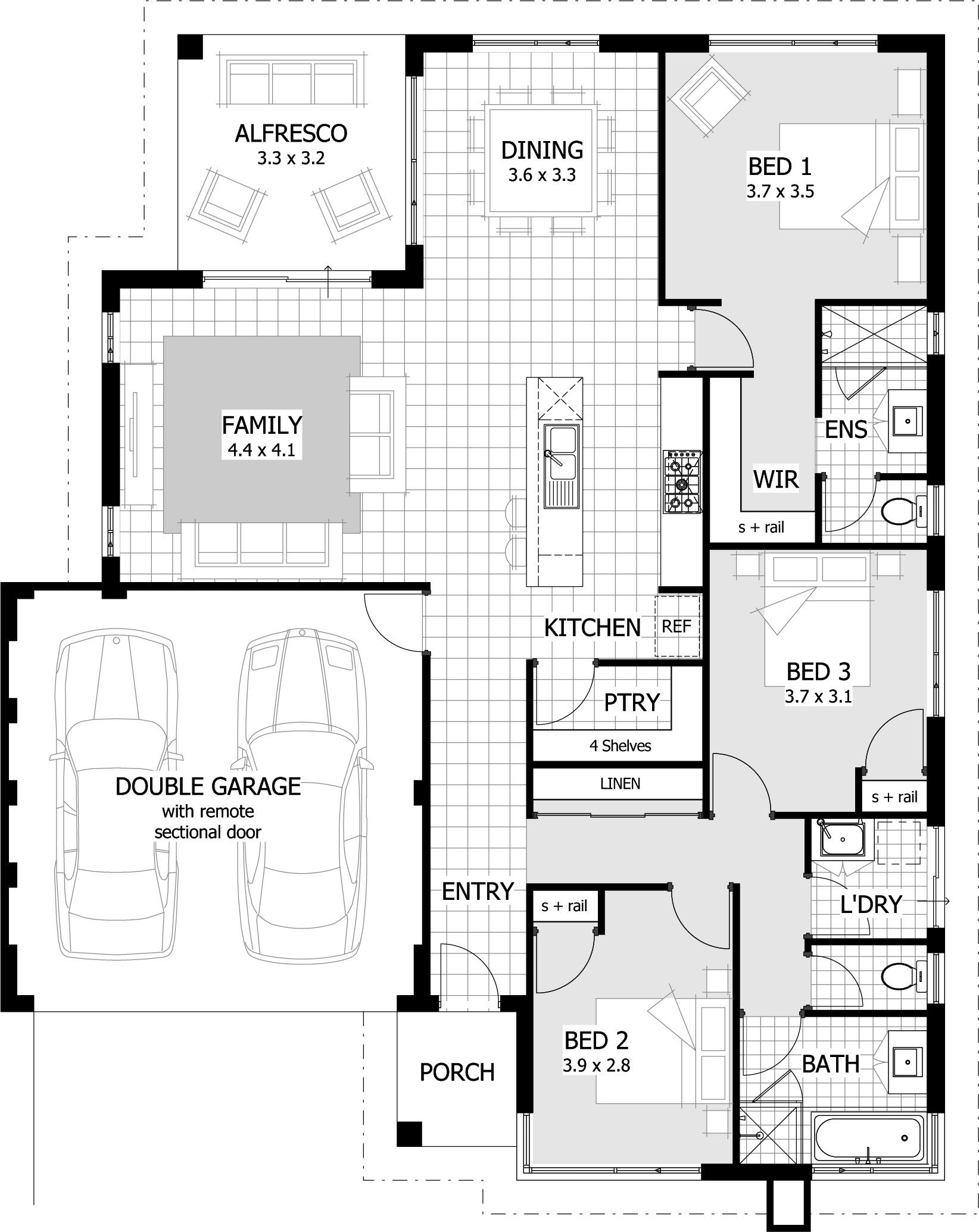 Best 3 Bedroom House Plans Home Designs Celebration Homes With Pictures
