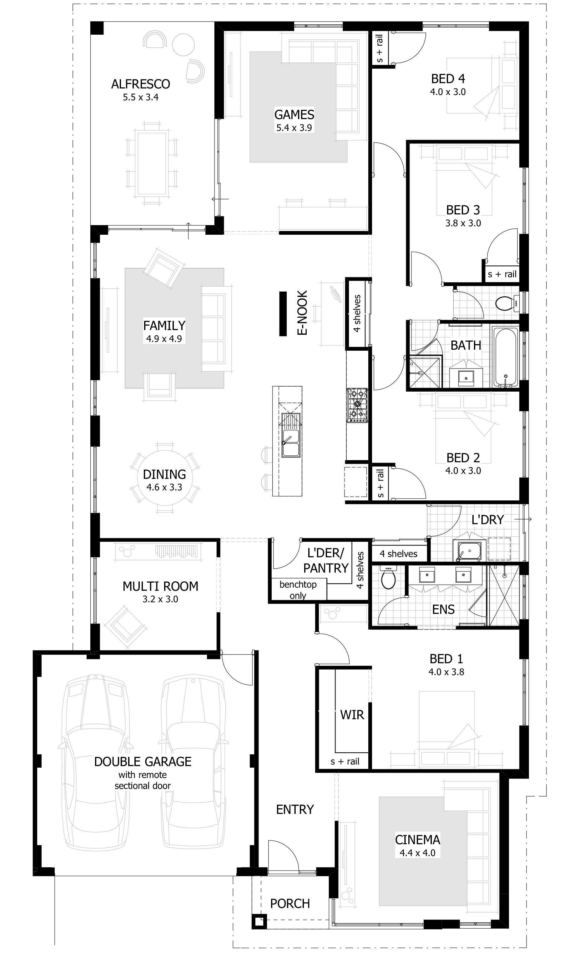 Best 4 Bedroom House Plans Home Designs Celebration Homes With Pictures Original 1024 x 768