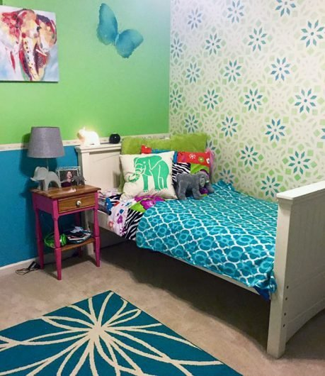 Best Stencils Add A Vibrant Twist To A Tween Bedroom With Pictures