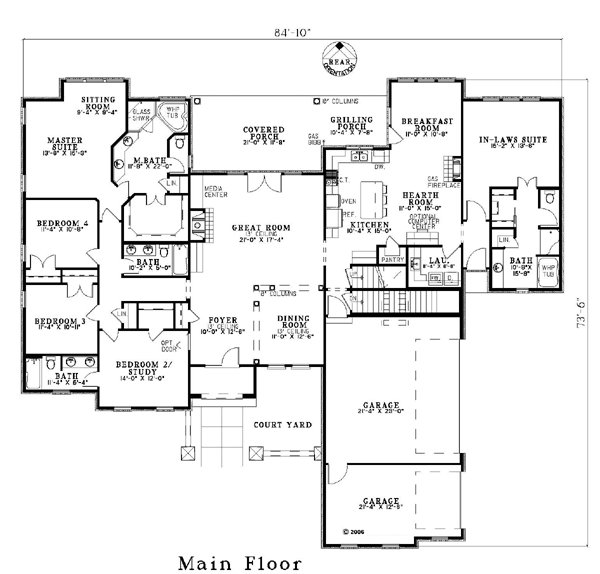 Best House Plan 82117 Craftsman Luxury Plan With 3003 Sq Ft 5 Bedrooms 4 Bathrooms 3 Car With Pictures