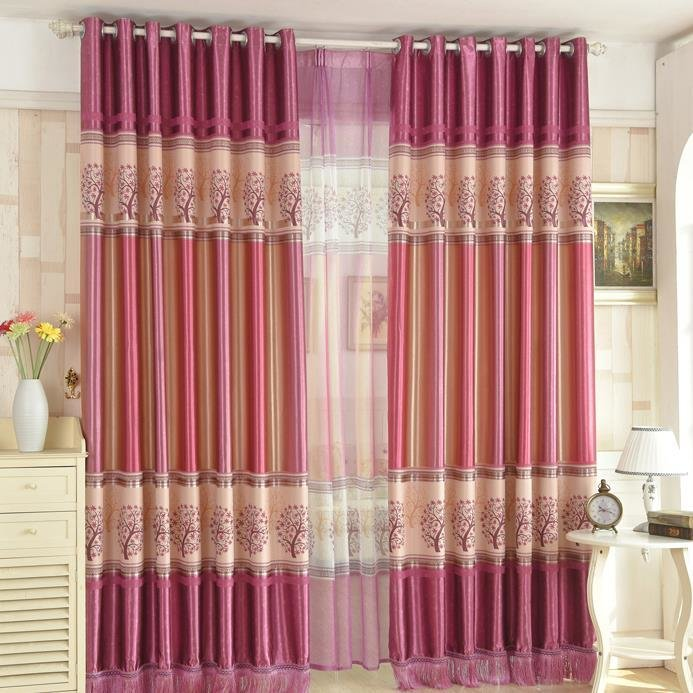 Best Cheap Tree Pink Purple Beautiful Curtains For Girls Bedroom With Pictures