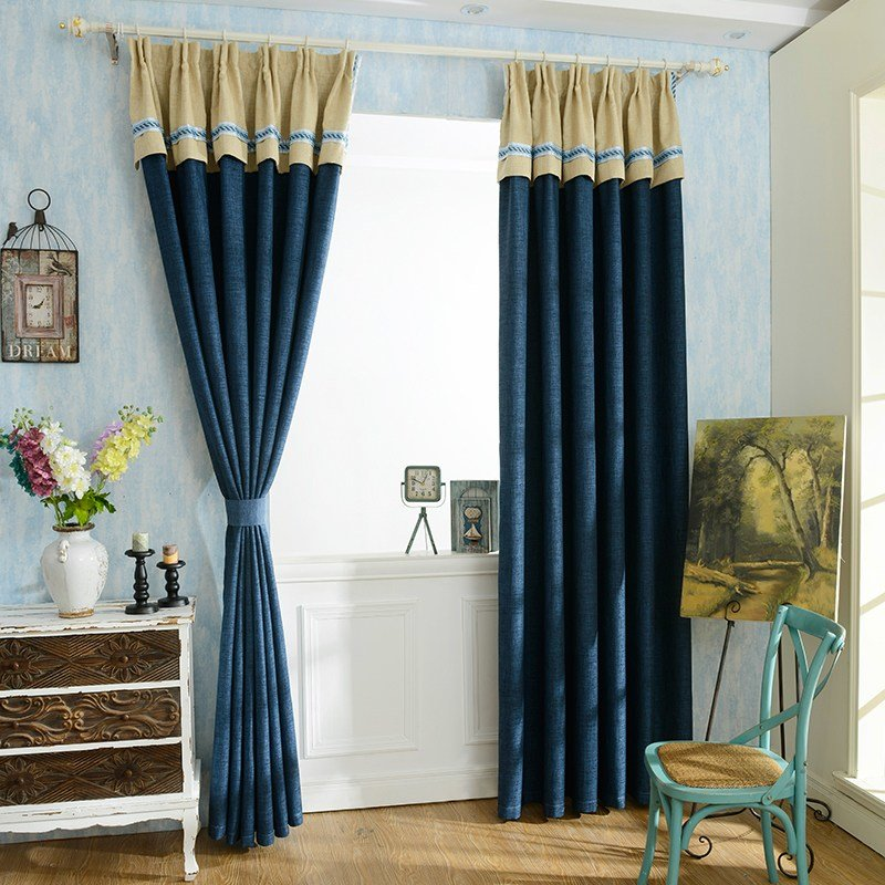 Best Navy Blue Modern Simple Blackout Curtains For Bedroom With Pictures
