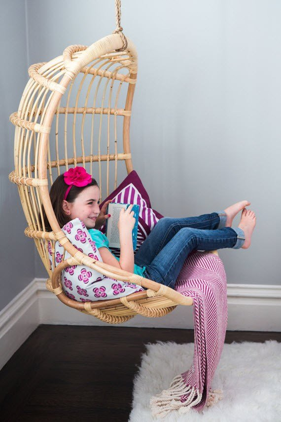 Best Rattan Hanging Chair Girls Bedroom Simplified Bee With Pictures