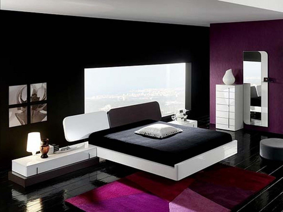 Best Purple And Cream Bedroom Black And Purple Interior Designs Purple House Interior Designs With Pictures