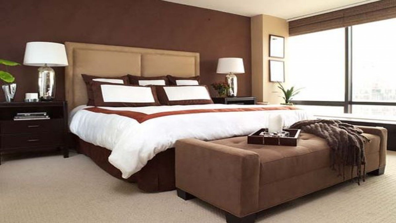 Best Chocolate Brown Bedroom Ideas Accent Walls In Small With Pictures