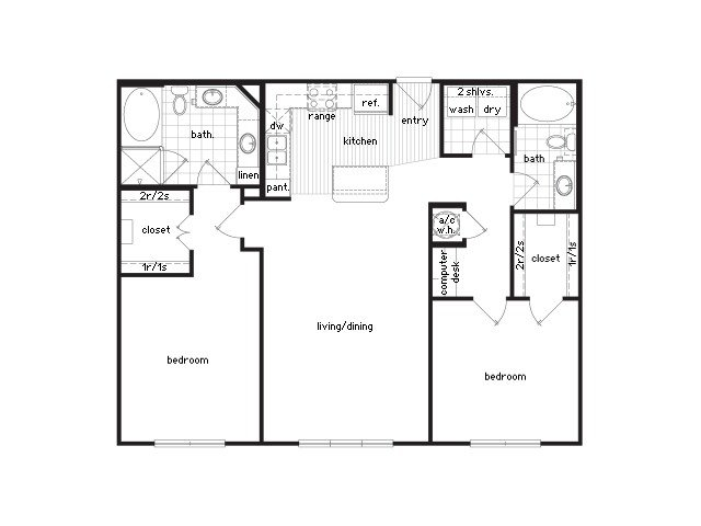 Best 36Sixty Floor Plans 1 2 Bedroom Luxury Apartments Houston Texas With Pictures