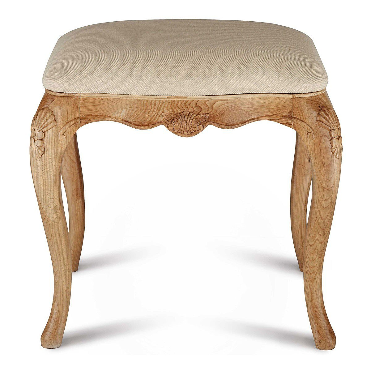 Best Charlotte French Inspired Oak Stool French Style Upholstered Dressing Table Stool French With Pictures