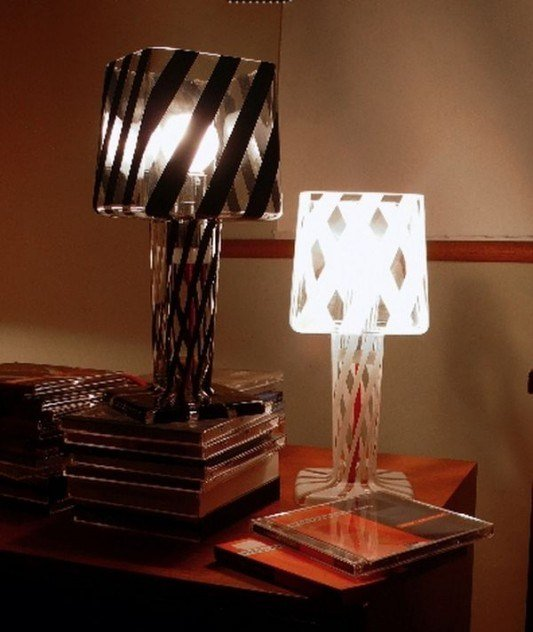 Best Black And White Contemporary Glass Table Lamps For With Pictures