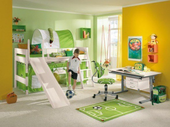 Best Bright And Gorgeous Modern Kids Bedroom Decorating Ideas With Slide Pictures Photos Images With Pictures