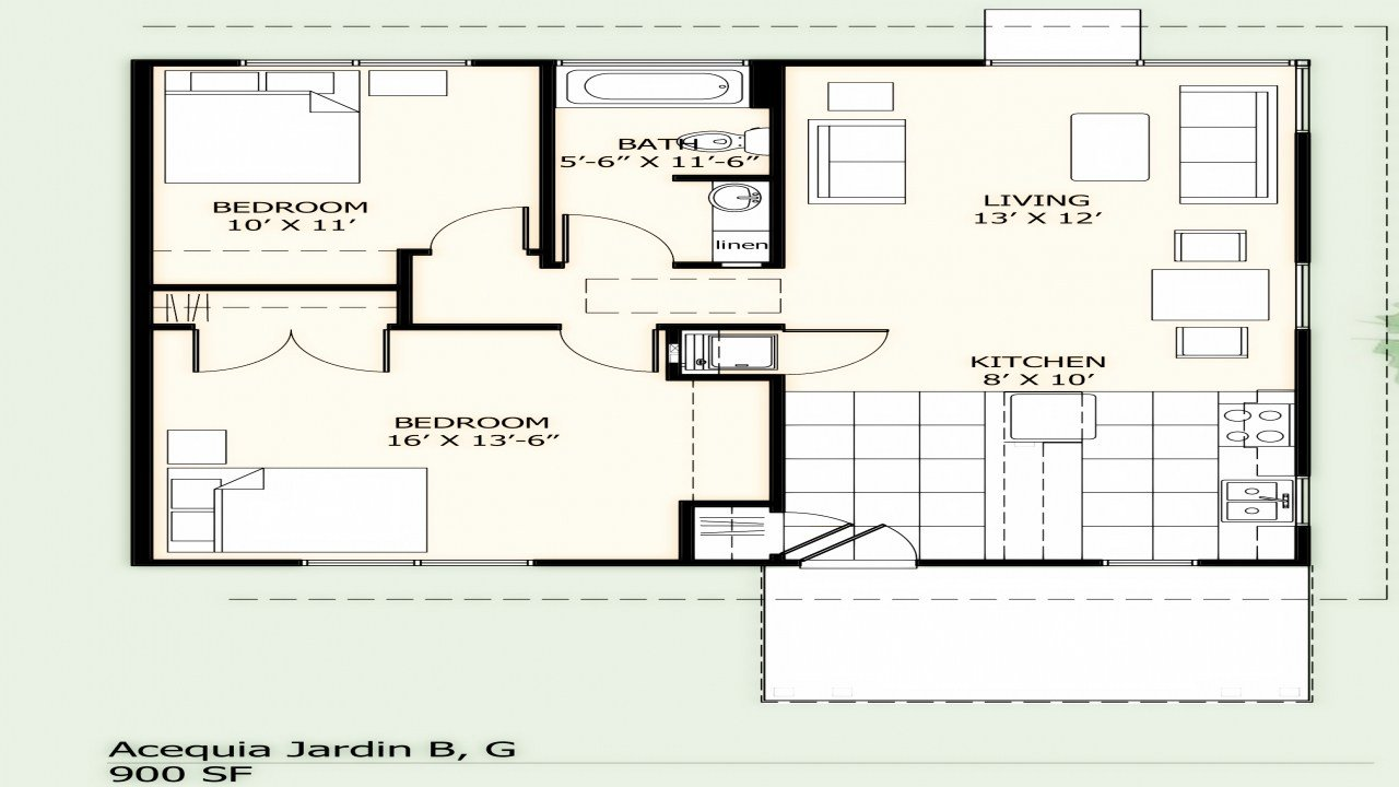 Best 900 Square Foot House Plans Simple Two Bedroom 900 Sq Ft With Pictures
