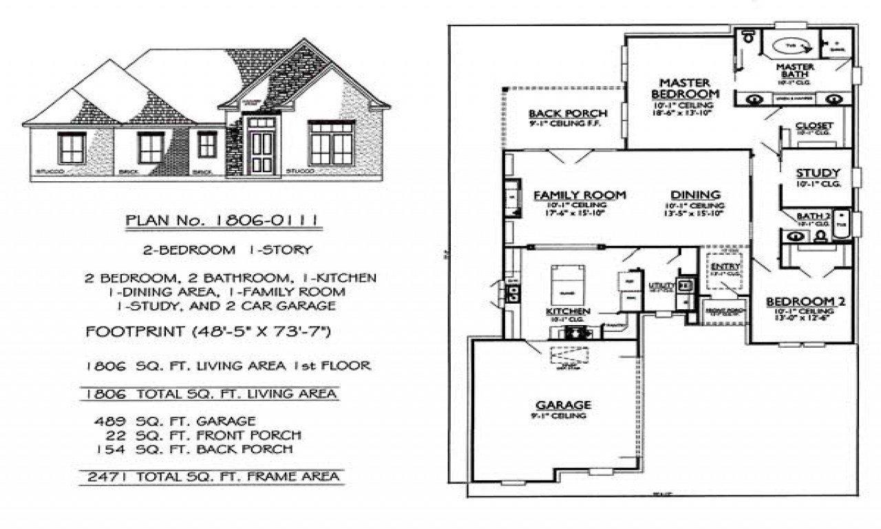 Best Story 2 Bedroom 2 Bathroom 1 Dining Room 1 Family Room House Long Lots Blueprints 3 Bedroom With Pictures