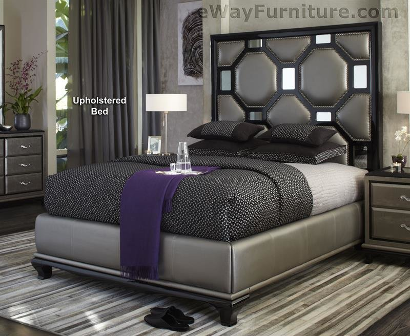 Best After Eight Black Onyx Upholstered King Bed Master Bedroom With Pictures
