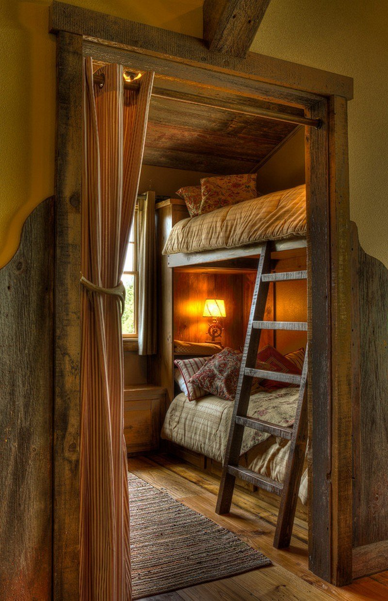 Best Small Rustic Style Kids Room With Bunk Bed With Pictures