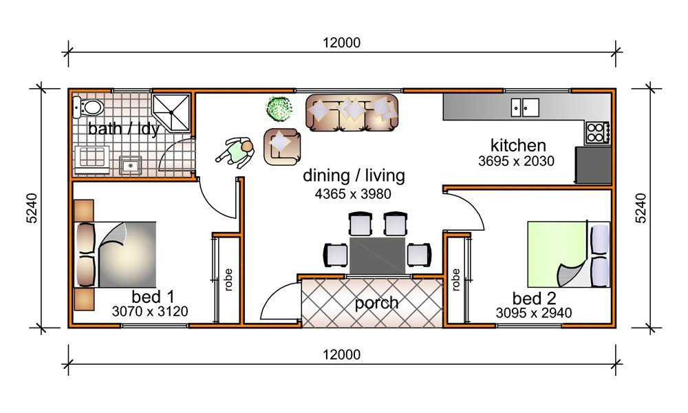 Best 2 Bedroom Granny Flat Designs 2 Bedroom Granny Flat With Pictures
