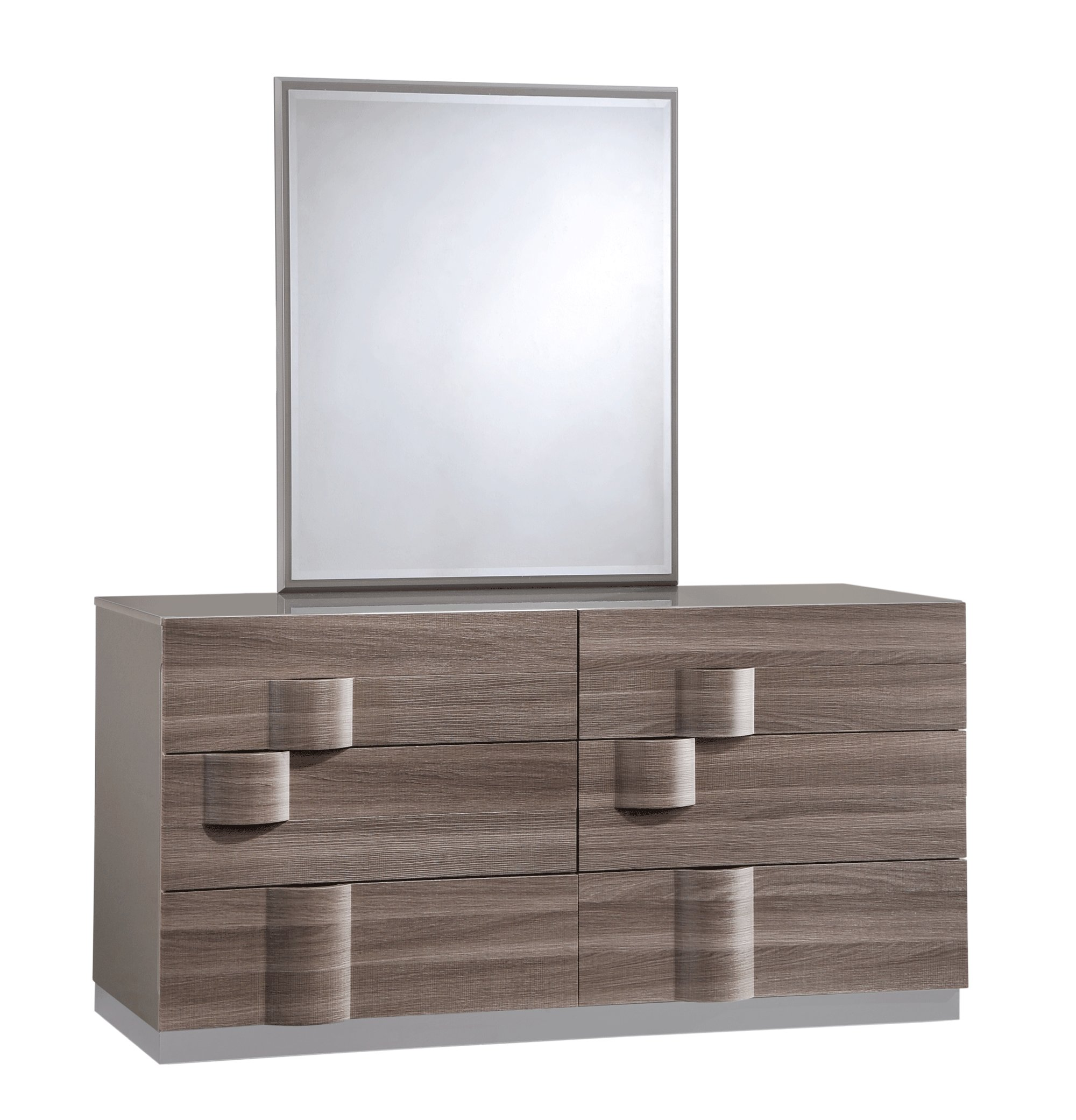 Best Adel Grey Glossy Zebra Wood Bedroom Set By Global Furniture With Pictures