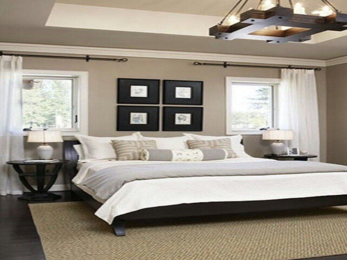 Best Grey And Blue Wall Black Bed Ideas About Tan Bedroom On With Pictures