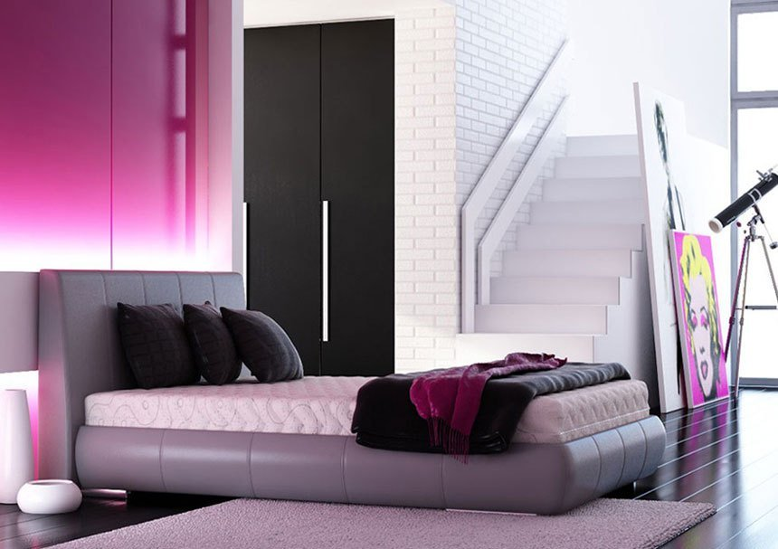 Best Modern Pink And Black Bedroom Interior Design Ideas With Pictures