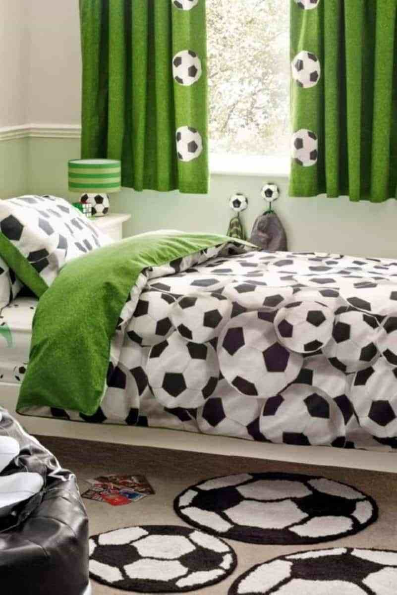 Best Soccer Bedroom With Soccer Ball Bedding And Mats Ideas With Pictures