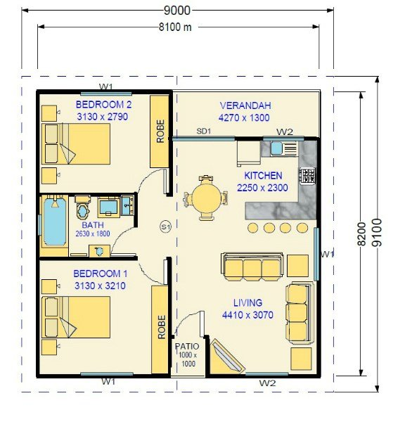 Best Two Bedroom Granny Flat Design Kenneth With Pictures
