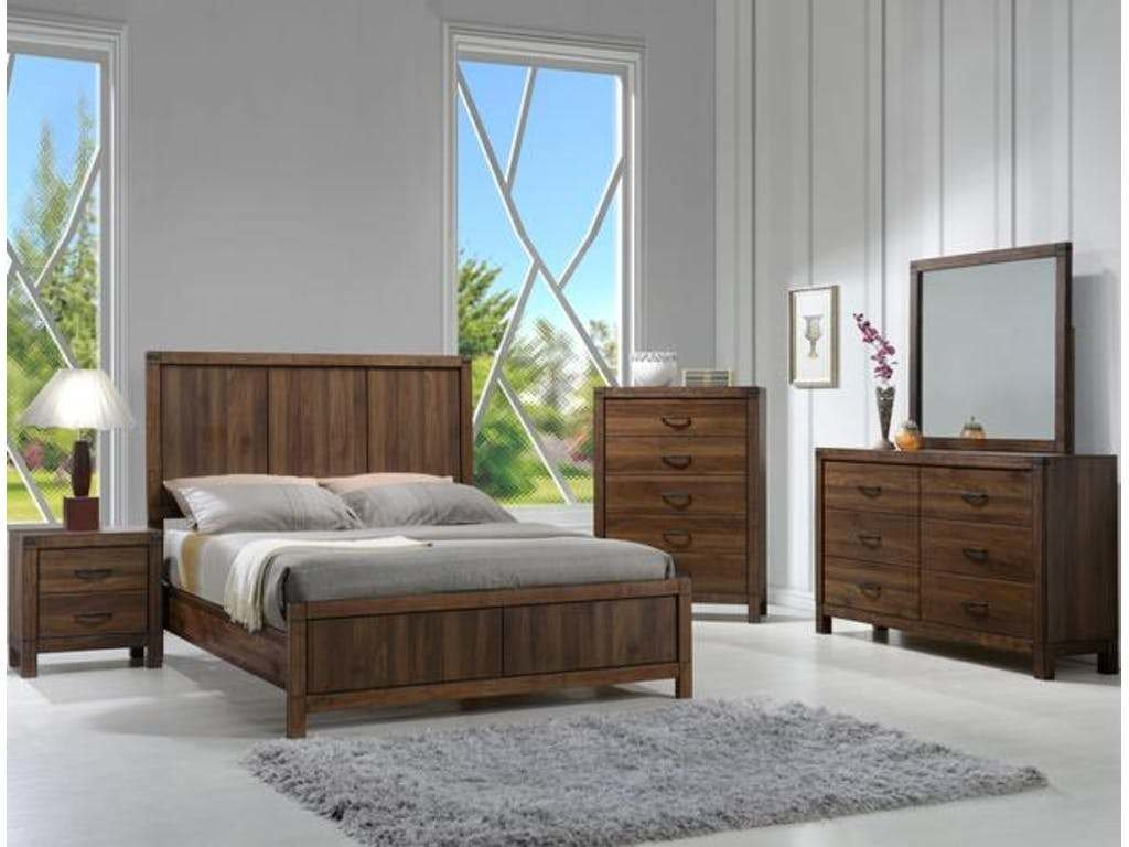 Best Modern Rustic Design 4 Pieces Set Paneled Headboard King With Pictures