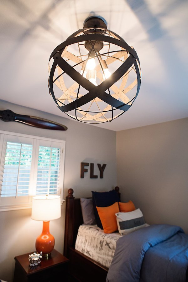 Best Navy And Orange Airplane Bedroom House Of Harper With Pictures
