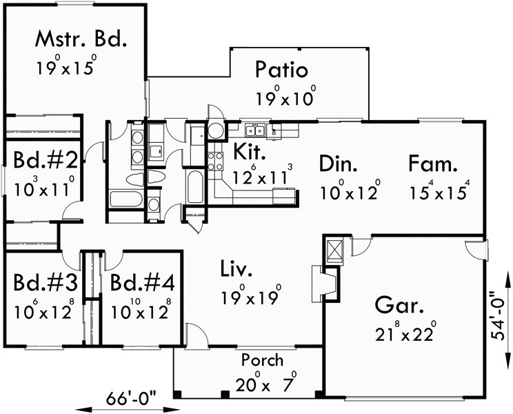 Best One Story House Plans Ranch House Plans 4 Bedroom House Plans With Pictures