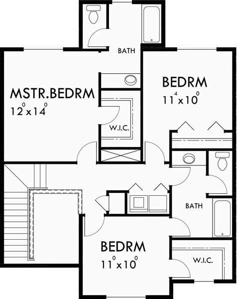 Best Triplex House Plans Townhouse With 2 Car Garage With Pictures