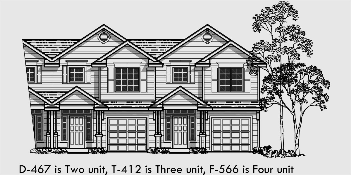 Best Fourplex House Plans 2 Story Townhouse 3 Bedroom With Pictures