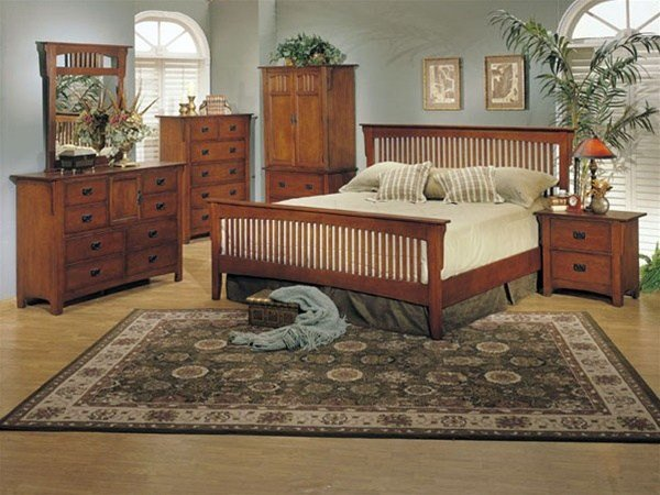 Best 6 Piece Ridgeville Mission Bedroom Set In Oak Finish By With Pictures