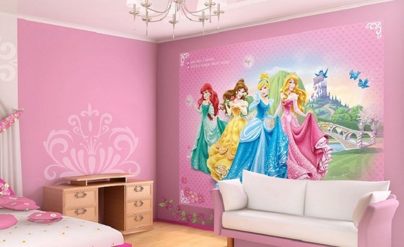 Best Princess Pink Wall Murals For Girls Homewallmurals Co Uk With Pictures
