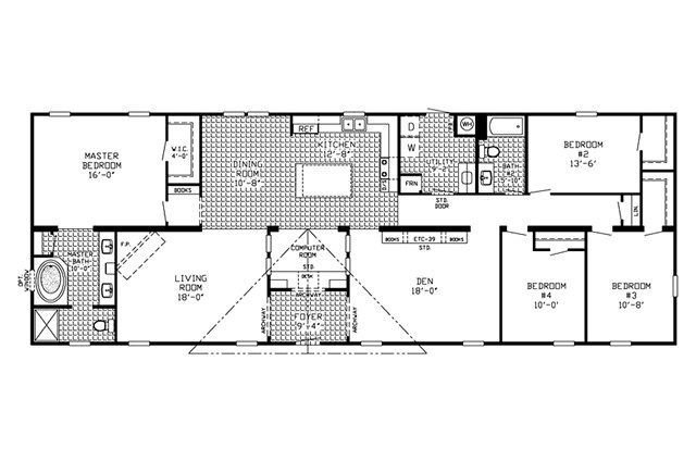 Best Floor Plan For 4 Bedroom 3 Bathroom Mobile Home Clayton With Pictures