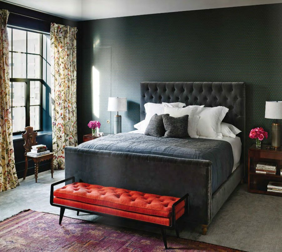 Best Gray Red And Purple Master Bedroom Interiors By Color With Pictures