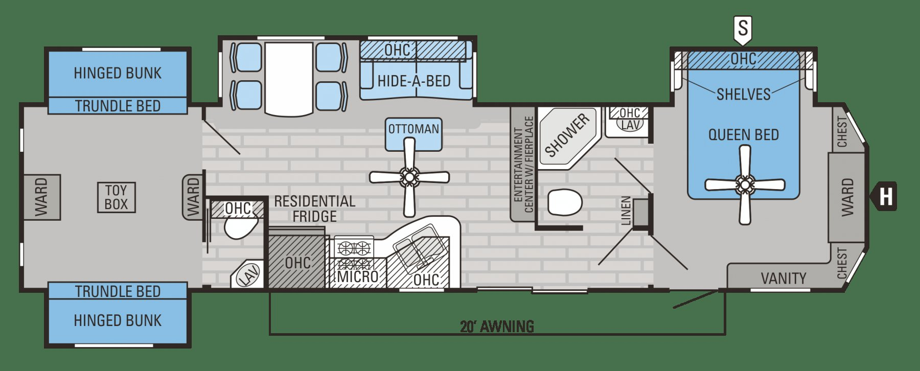 Best 3 Bedroom Rv Floor Plan 3 Bedroom Rv Floor Plan With Pictures